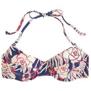 J. Crew halter bikini top in retro floral